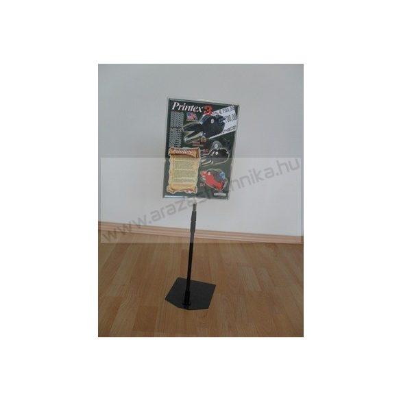 Információs állvány - A3 plakátkeret + (kihúzható SZÁR 2*50 cm) + PVC lapvédő fólia