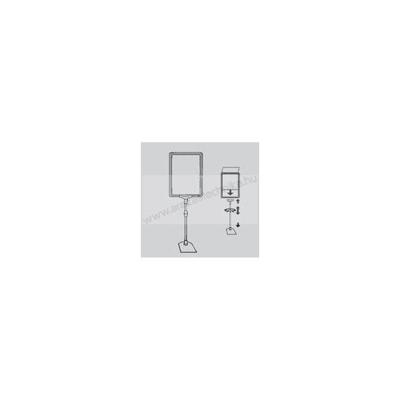 Információs állvány - A3 plakátkeret + (kihúzható SZÁR 2*75 cm) + PVC lapvédő fólia