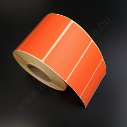 80x40 mm THERMO címke - NARANCS (1.000 db/40)
