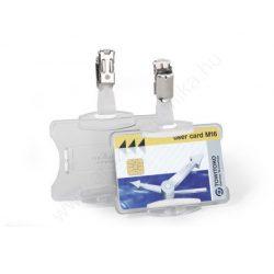Biztonsági kártyatartó MONO - nyitott áttetsző (8118-19) csipesz tartóval