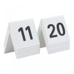 Asztal számok tábla szett (11-20) Securit® TN-11-20-WT