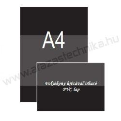 A4 fekete PVC lap (210×297mm) folyékony krétával írható - UV álló