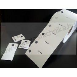 Függő etikett PVC 50x25 mm - időjárásálló etikett - nem öntapadós (10mm függesztő lyuk)