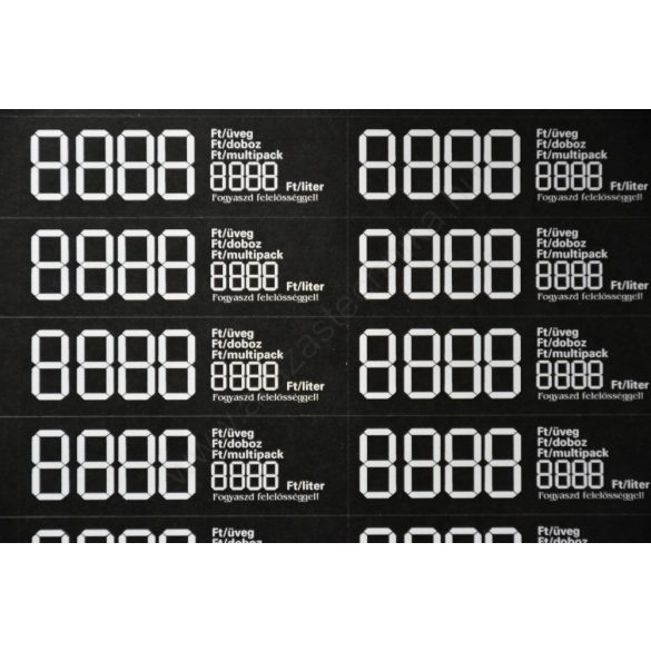 Digitális  öntapadós etikett 69×21mm ( 36 db/ív) FEKETE