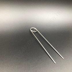 TÜSKE - (10cm) INOX árcímke tartó DUPLA