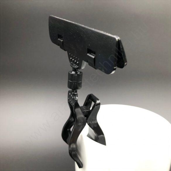 Kartontartó CLICK csipesz (35 mm) FEKETE