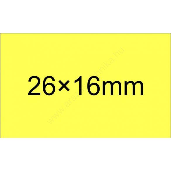 26x16mm citrom ORIGINAL árazócímke (1.000db/tek) - szögletes