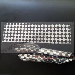 PEPITA nyomot hagyó 30x10mm biztonsági címke - matt ezüst