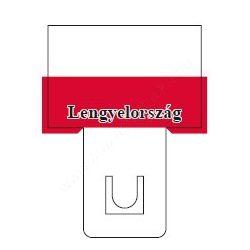 Lengyel zászló - 60×40mm