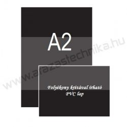 A2 fekete PVC lap [420×594mm] folyékony krétával írható