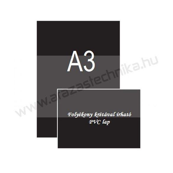 A3 fekete PVC lap [297×420mm] folyékony krétával írható