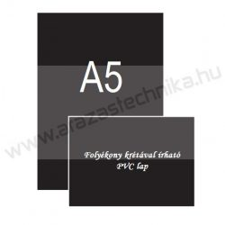 A5 fekete PVC lap [148×210mm] krétamarkerrel írható