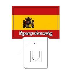 Spanyol zászló - 60×40mm