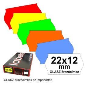 22×12mm árazócímke