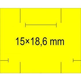 15×18,6mm árazócímke