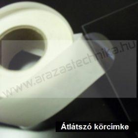 Körcímke - dobozlezáró műanyag címke